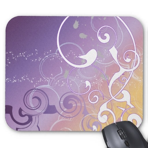 Abstract Light Swirl Mouse Pads