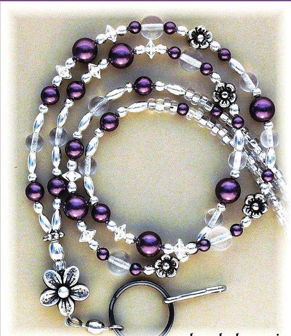 Burgandy Pearl Lanyard/ Id Badge Holder Id by zoeybeadedbeauties, $25.00