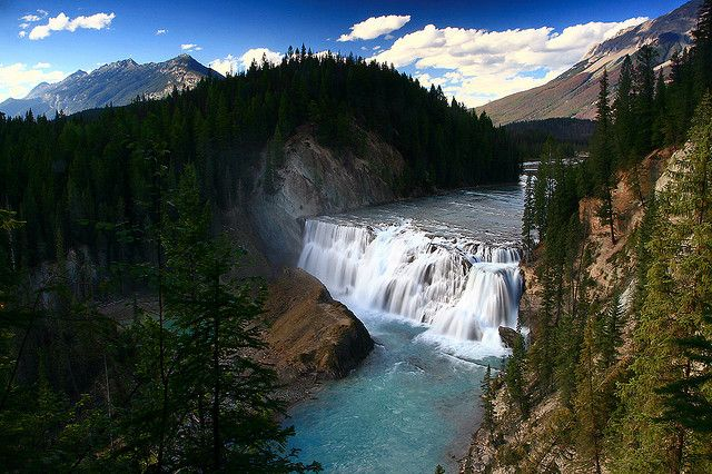 Wapta Falls, Kicking Horse River in Yoho National Park, B.C