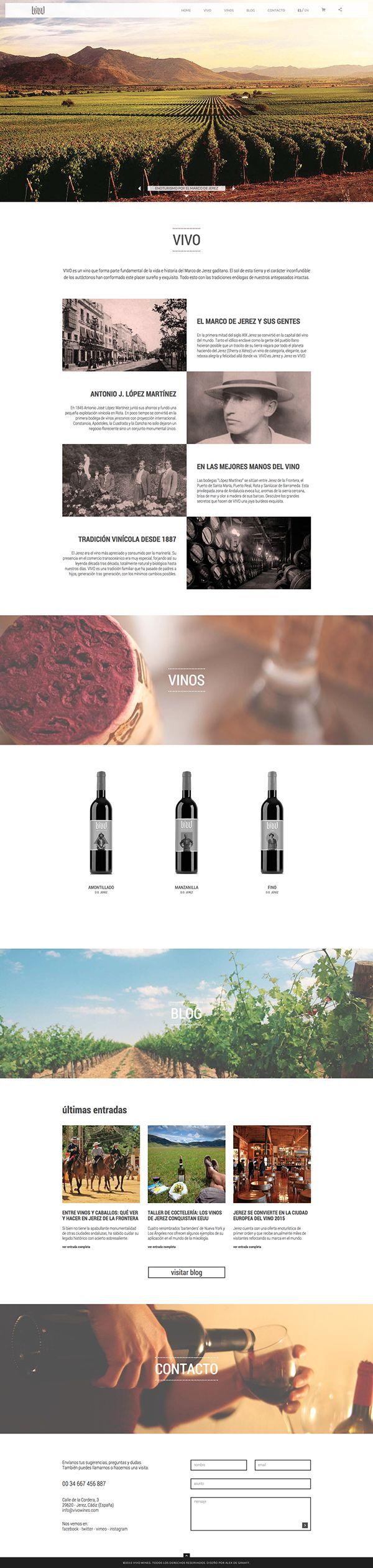 VIVO wines on Behance