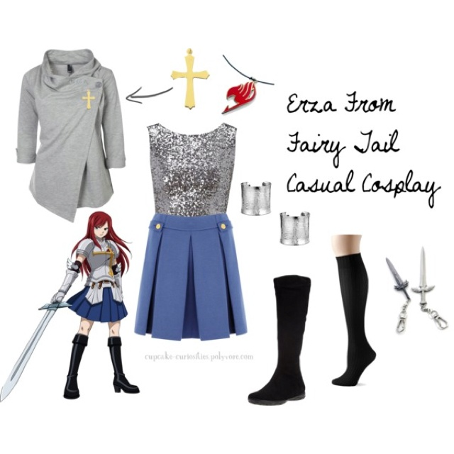 Love the coat in this erza fairy tail casual cosplay set i know i already posted this but the coat thing is totally right