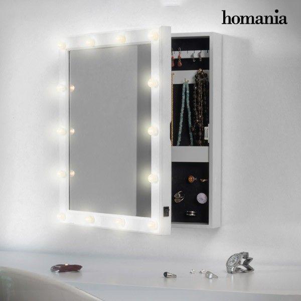 El mejor precio en Hogar 2017 en tu tienda favorita https://www.compraencasa.eu/es/joyeros-tibores/91445-espejo-joyero-de-pared-con-led-homania.html
