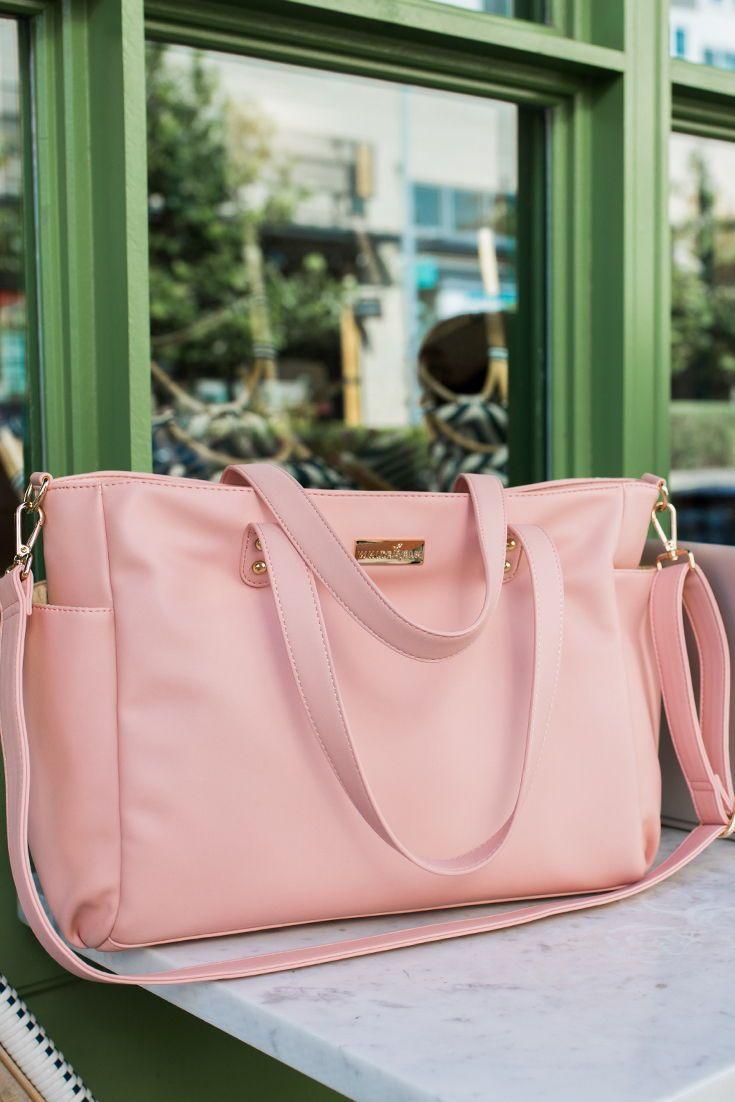 Aquila Tote Bag – Pink Vegan Leather