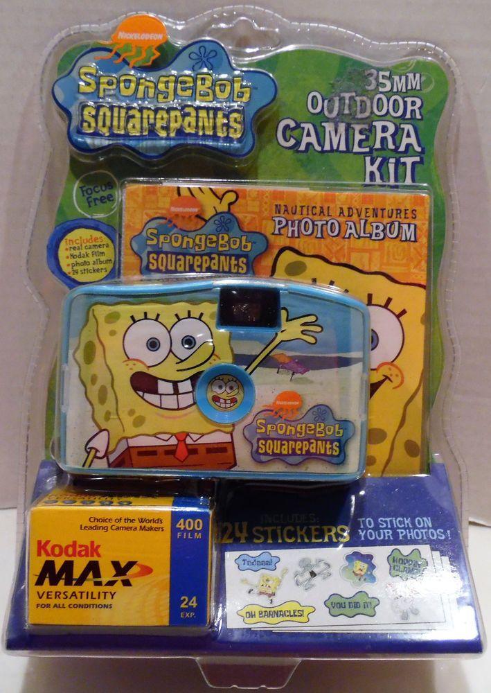SpongeBob SquarePants 35MM Outdoor Camera Kit Photo Album Stickers Kodak Film #Nickelodeon