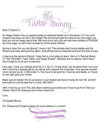 Best Letter From The Easter Bunny Images On   Easter