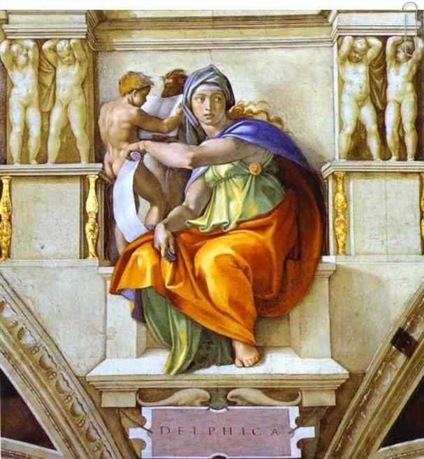 The Sibyl of Delphi by Michelangelo