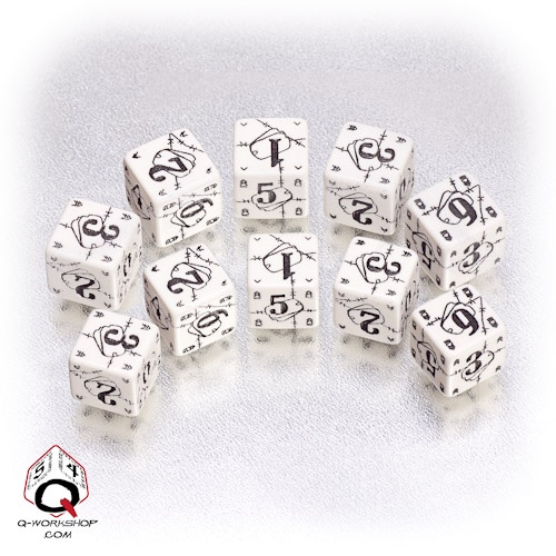 White-black Battle dice set