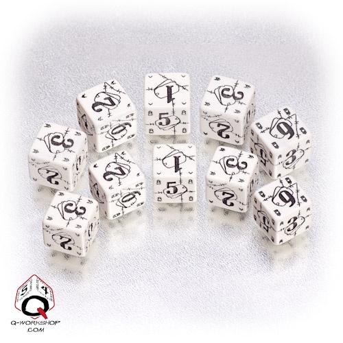 White-black Battle dice set
