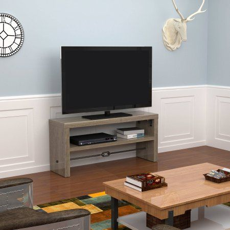 Luxe by TSI Emmitsburg Graphite Oak TV Stand for TVs up to 55 inch, Brown