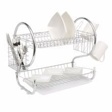 2 Tier Home Kitchen Organizer Chrome Plate Dish Cup Cutlery Drainer Rack Drip Tray Plates Storage Holder Cutlery Plates Holder //Price: $US $18.89 & FREE Shipping //   #watches #bracelets #rings #shirts #earrings #dress