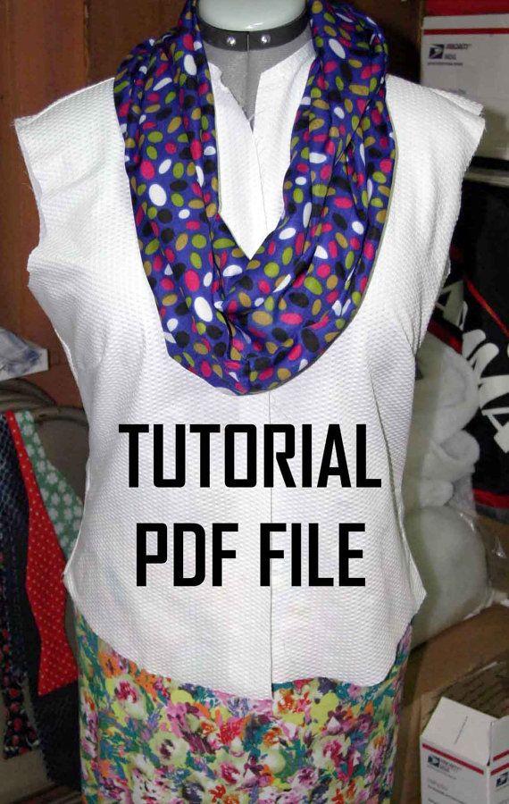 TUTORIAL: Infinity Scarf With Hidden Zipper Pocket PDF ...