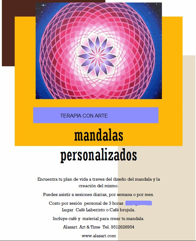 Mandalas Personalizadados. Terapias individuales