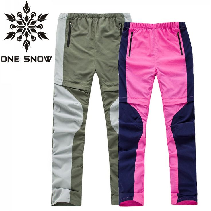 ONE SNOW Ultrathin Breathable Summer Trousers Outdoor Camping Hiking Pants Men Women Removable Trousers Climbing Trekking Pants