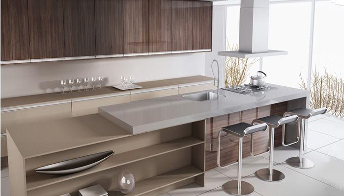 Cozinha planejada com balc es arm rios a reos bancada for Banquetas altas modernas