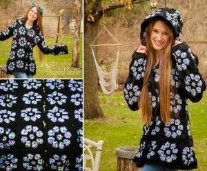 Crochet Hooded Jacket