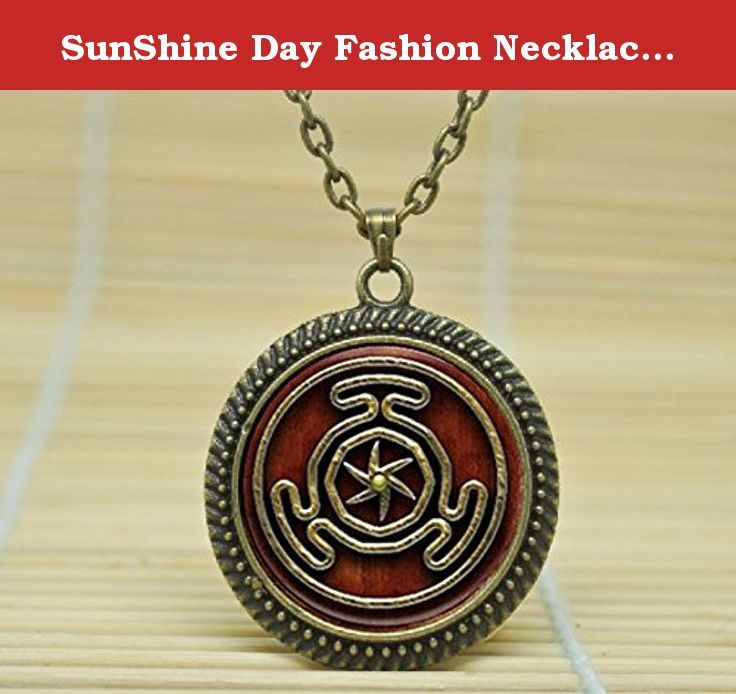 SunShine Day Fashion Necklace Wheel Of Hecate Symbol Pendant Necklace Glass Cabochon Necklace A4152. Fine or Fashion:Fashion Item Type:Necklaces Style:Trendy Pendant Size:25mm Gender:Unisex Necklace Type:Chains NecklacesMaterial:Zinc AlloyChain Type:Link Chain Length:50-55cm Metals Type:Zinc Alloy.