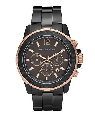 For Cory.  Michael Kors Watch, Men's Chronograph Garrett Gunmetal Plated Bracelet 46mm MK8173 - All Watches - Jewelry & Watches - Macy's