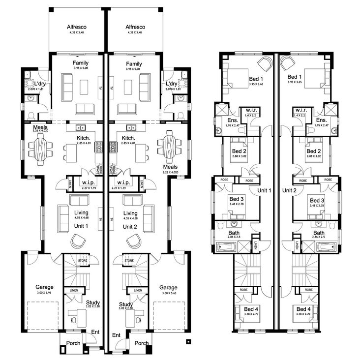 Norfolk 53.3 - Duplex Level - Floorplan by Kurmond Homes - New Home Builders Sydney NSW