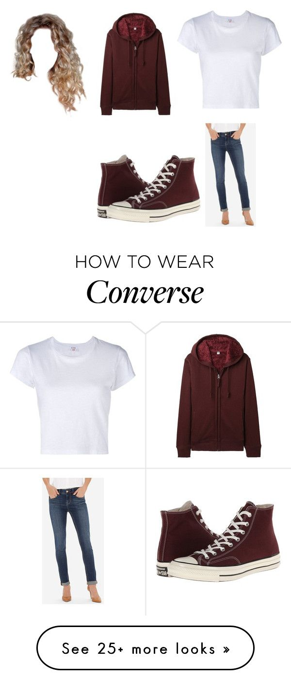 """Untitled #12255"" by iamdreamchaser on Polyvore featuring RE/DONE, The Limited, Uniqlo and Converse"