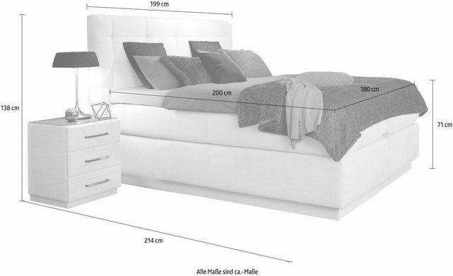 "Box spring bed ""Base Box"", with Airogel® technology, including topper"