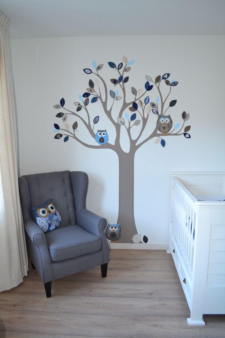 25 beste idee n over uilenboom op pinterest kleine hut winter huis en kleine cabine interieur - Grijs muurschildering ...