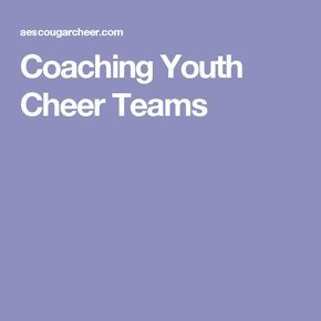 Coaching Youth Cheer Teams