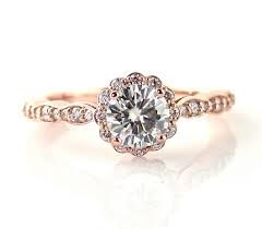 rose gold antique engagement rings - Google Search