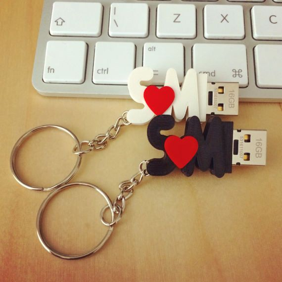In Love – USB Flash Drive With Initials