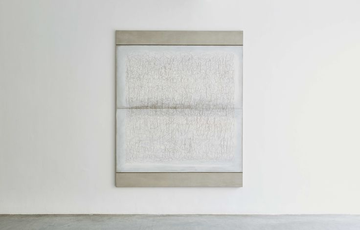 Richard Höglund, Sea Picture XLVIII, 2016, silver, tin, lead and oil on linen prepared with bone pulver and marble dust, 226 x 183 cm. Ronchini Gallery, London.