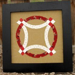 Modern Double Wedding Ring Wall Quilt