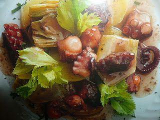un mondo di ricette: polpo con patate e carciofi