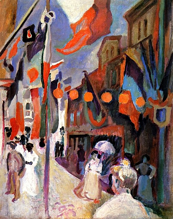 Street Decked with Lanterns, Le Havre Raoul Dufy - 1906