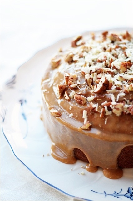 torta al caffè e noci pecan