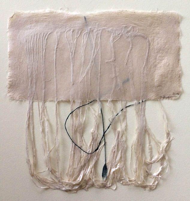 abaca handmade paper, paper threads... -by Yuko Kimura