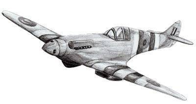 Как нарисовать военный самолет, шаг 6