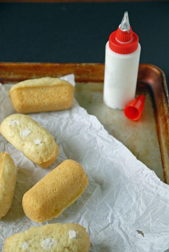 Twinkies caseros estafa crema de coco batida de Llenado / La helada Vegan
