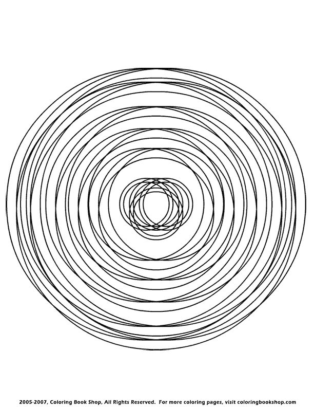 circle abstract coloring pages - photo#9