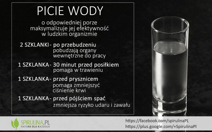 Kiedy najlepiej pić wodę? W jakich ilościach? #zdrowie #woda #infografika #dieta