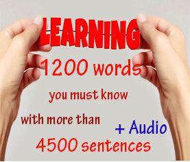learn Thai language 1200 words