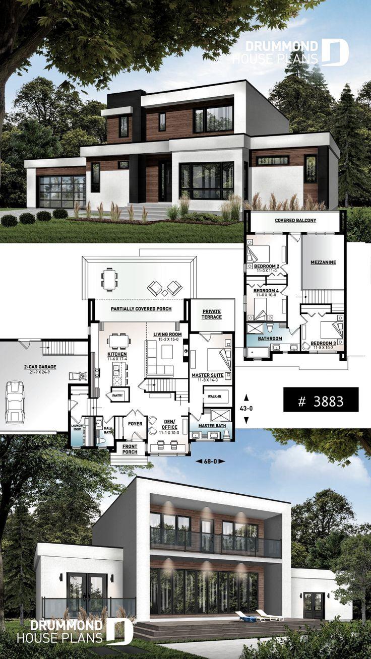 Plan 14633RK MasterOnMain Modern House Plan House plans