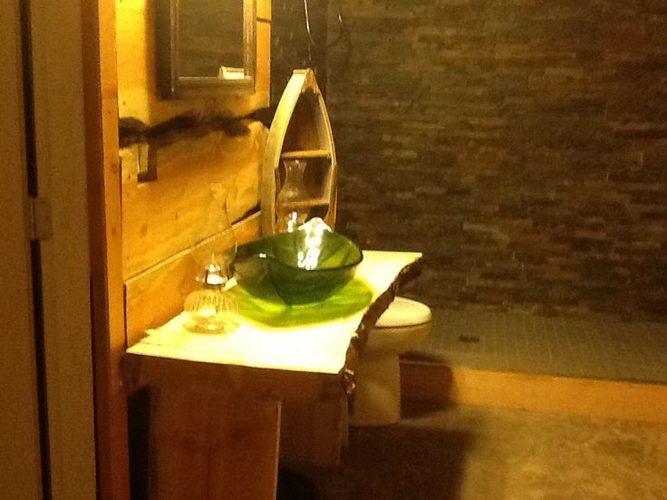 My bathroom in our basement.