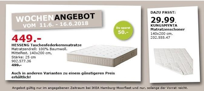 Ikea Hesseng Taschenfederkernmatratze Taschenfederkernmatratze Ikea Kuche Und Haushalt