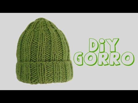 Gorro Punto Elástico Tejido con Telar para Hombre o Mujer - Rib Stitch Hat in Spanish - YouTube