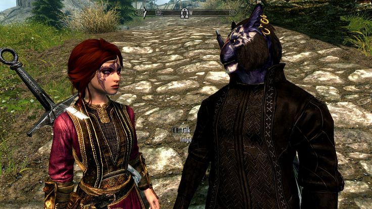 Oh how I love Inigo (Mod from nexus) Skyrim Elderscrolls V PC