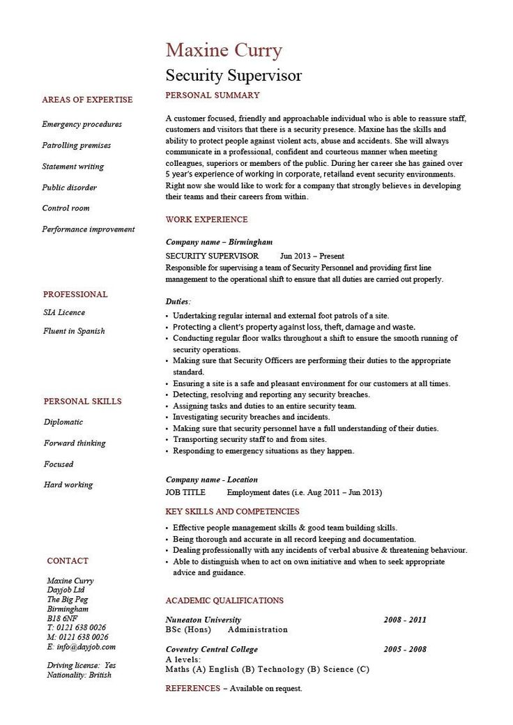 Pin On Free Cv Examples To Use