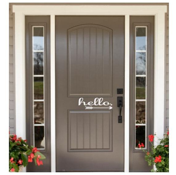 Exterior Door Stickers Welcome Front Door Decal Hello Door Vinyl