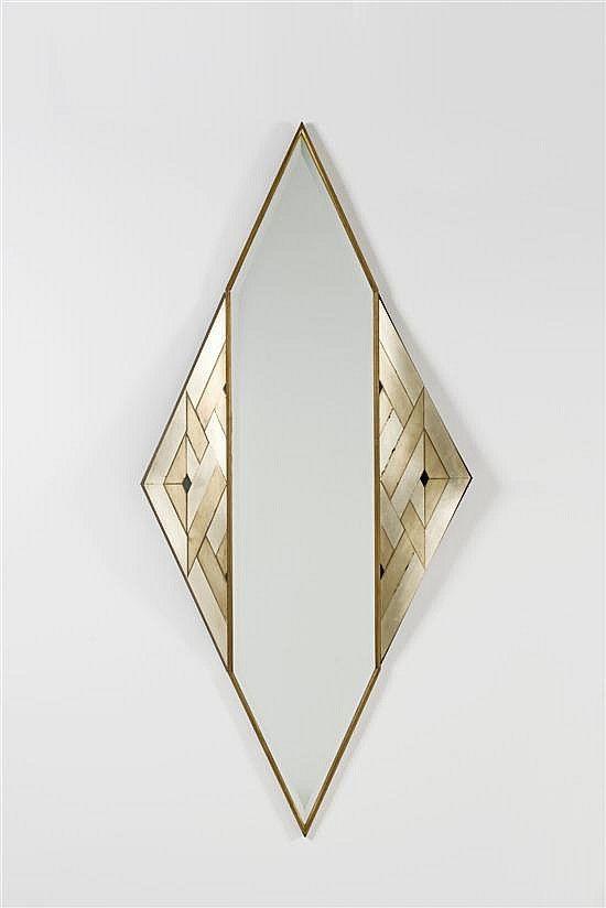 lorenzo burchiellaro // copper and brass 'losanga' wall mirror // 1988.