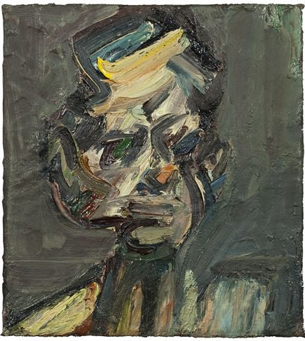 Portrait of David Landau - Frank Auerbach