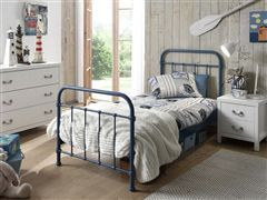 1 persoons bed New-York blauw