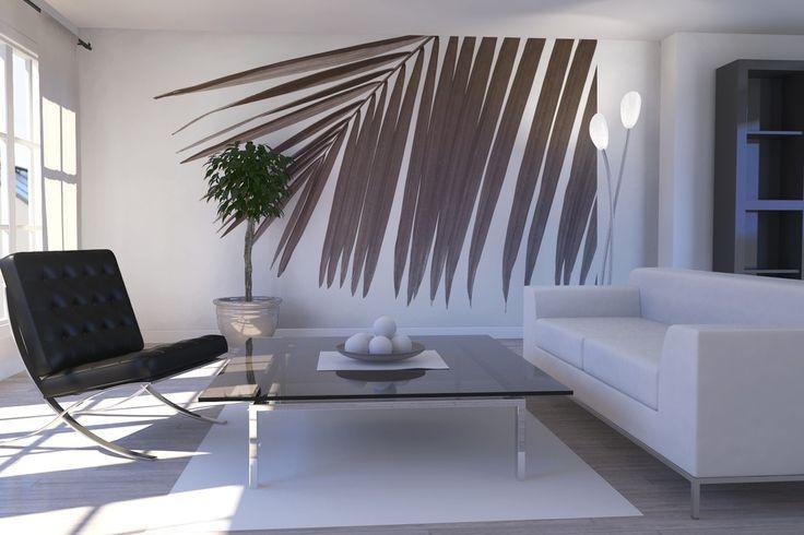 Palm Leaves - Sepia - Fototapeter & Tapeter - Photowall
